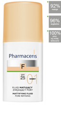 PHARMACERIS F Fluid matujący 01 IVORY, 30ml
