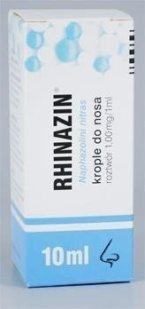 Rhinazin 0.1% krople do nosa 10ml